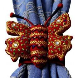 Butterfly Decorative Cotton Curtain Tieback