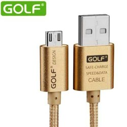 Golf Metal 2.1A Output 1.5M Micro USB Data Charging Cable