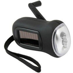 Dual Rechargeable Solar Dynamo LED Torch Light
