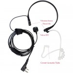 Walkie Talkie Hands-free Earphone with Vibration Throat Mic
