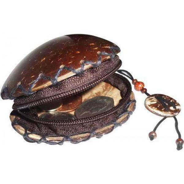 Coin Purse - Coconut Shell Made Women Fashion Mini Wallet