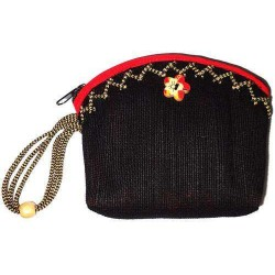 Jute Cotton Made Women's Fashion Mini Purse  JMP100A