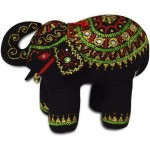 Decorative Handmade Black Cotton Elephant Home Decor