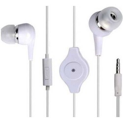 Super Bass Stereo In-ear Retractable Earphone