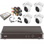 VALUE-TOP - 4 channel DVR 1.3MP Dome CCTV Camera - Combo