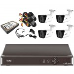VALUE-TOP - 4 channel DVR 1.3MP Bullet CCTV Camera - Combo
