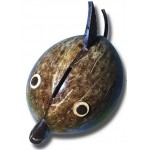 Coconut Shell Fish Coin Bank