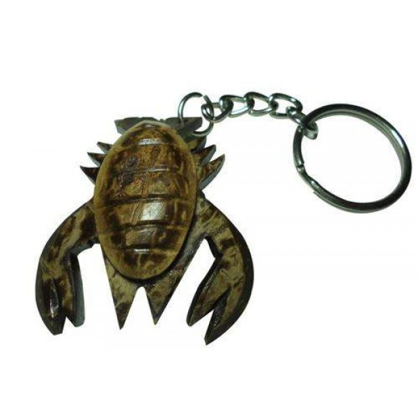 Coconut Shell Crab Key-ring