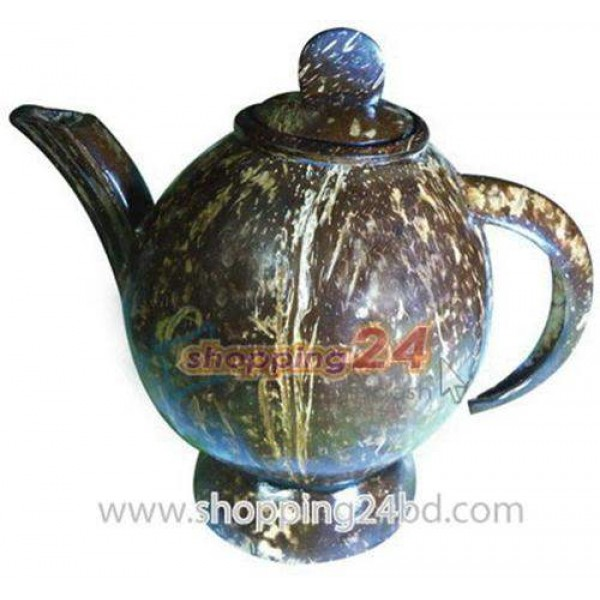 Coconut Shell Handmade useable Tea Pot